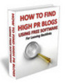 Thumbnail How To Find High PR Blogs +MRR