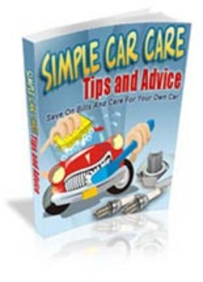 Product picture Simple Car Care Tips And Advice  with mrr